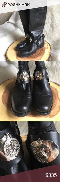 Ralph Lauren collection leather riding boots In amazing condition! Purple label equestrian riding boots. Amazing horse buckles and leather straps. Very very gently worn. These are one of a kind. Ralph Lauren Purple Label Shoes Ankle Boots & Booties