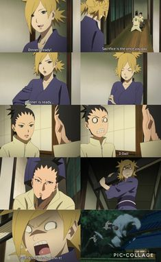 Haha I just love Temari, she's such a Badass Mom ❤️ Poor Shikamaru and Shikadai tho ❤️❤️❤️ Episode 43 ❤️❤️Temari and Shikamaru are my one of my otps besides Naruto and Hinata Naruto Uzumaki Shippuden, Naruto Kakashi, Anime Naruto, Shikadai, Naruto Comic, Wallpaper Naruto Shippuden, Naruto Cute, Otaku Anime, Shikatema
