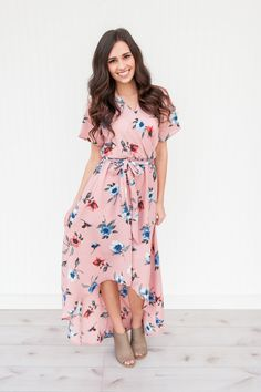 This wrap dress is stunning! It features a high-low hem and the color is gorgeous.    Sizing:      Small 0-4  Medium 6-8  Large 10-12      Fits true to size.    Shop this product here: http://spreesy.com/pinkpineappleclothingcompany/217   Shop all of our products at http://spreesy.com/pinkpineappleclothingcompany      Pinterest selling powered by Spreesy.com