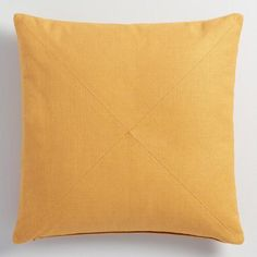 Crafted of soft 100% cotton with a herringbone weave and clean mitered seams, our exclusive gold pillow is a classic update for any seating arrangement. Pick up multiple colors to refresh your decor instantly and affordably.