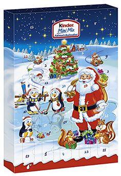 NEW Santa w// Rudolph 24 Chocolates Holiday Christmas Advent Calendar FAST SHIP
