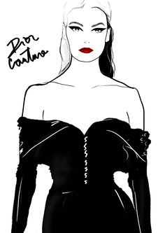 Dior -  Illustration by Charly Rodrigues