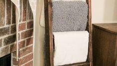 Easy DIY Platform Bed - Shanty 2 Chic Diy Platform Bed, Modern Platform Bed, Diy Ladder, Diy Blanket Ladder, Quilt Ladder, Metal Pipe, Wood And Metal, Diy King Bed Frame, Woodworking Bench Plans