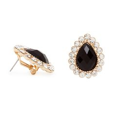 The classically designed and beautifully crafted Melinda earrings are an evening wear jewelry box must have! From the striking tear drop onyx, to the gold and CZ border, Melinda boasts all things glam. Pair with classic pearls or a sparkling statement necklace for added allure.