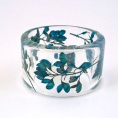 Bluebonnets Resin Bangle. Chunky Bangle par SpottedDogAsheville