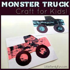 Little Family Fun: Monster Truck Craft