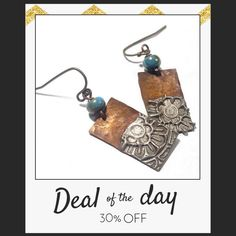 Today Only! 30% OFF this item.  Follow us on Pinterest to be the first to see our exciting Daily Deals. Today's Product: Copper Solder Stamped Earrings Set 8 Buy now: https://small.bz/AAikC3g #etsy #etsyseller #etsyshop #etsylove #etsyfinds #etsygifts #musthave #loveit #instacool #shop #shopping #onlineshopping #instashop #instagood #instafollow #photooftheday #picoftheday #love #OTstores #smallbiz #sale #dailydeal #dealoftheday #todayonly #instadaily #instadaily #todayonly #dealoftheday…