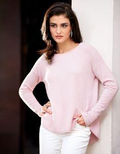 Der Klassiker aus kuschelweichem Kaschmir in zartem Pastell Pink.