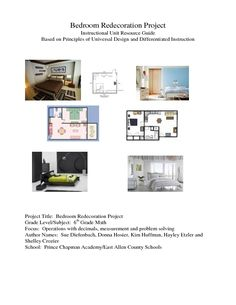 Bedroom Redecoration Project Lesson Plan
