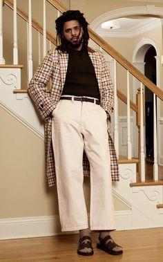 J.Cole, GQ Clothes Encounters, J Cole, Ranbir Kapoor, Role Models, Gq, Personal Style, Khaki Pants, Street Wear, Mens Fashion