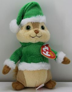 8eb43cceaa7 Used w Tags Ty Beanie Babies Christmas Holiday Theodore Alvin and The  Chipmunks