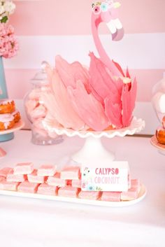 The BEST Flamingo Cake Topper you will see anywhere! Instant download...float away on a cloud of pink! Visit our blog for step by step hot to of this amazing Flamingo Cake!