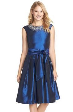 Eliza J Beaded Fit & Flare Dress available at #Nordstrom