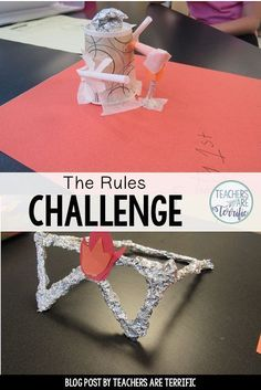 A free STEM Challenge all about the rules of your classroom!