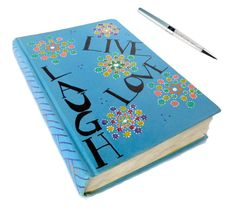 Live Love Laugh Notebook - Live Laugh Love Journal - Christmas Gifts - Mandala Guest Book - Gifts For Her - Teen Gifts -  Mandala Diary by DistinctlyYouDesigns on Etsy