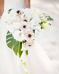 Tropical Bouquet #beachwedding inspired bouquets from Martha Stewart Weddings