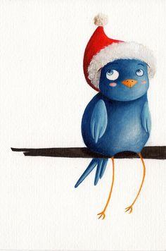 Christmas Bird  Illustration by Arianna Usai