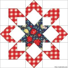Sewing Quilts Mini Medallion Quilt Tutorial Sew-Along Star Quilt Blocks, Quilt Block Patterns, Pattern Blocks, Purse Patterns, Sewing Patterns, Quilting Tutorials, Quilting Projects, Quilting Designs, Bag Tutorials