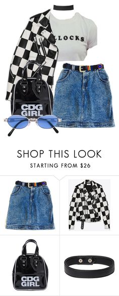 """Untitled #1295"" by wavvy-k ❤ liked on Polyvore featuring Yves Saint Laurent, Comme des Garçons and Jean-Paul Gaultier"