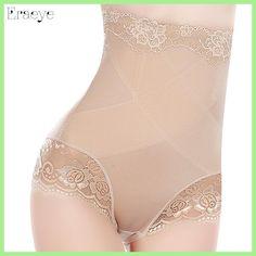 6572bfe71f242 ERAEYE Sexy Slimming High Waist Underwear Women Shapewear Briefs Thin Mid-lumbar  Abdomen Hips Lace