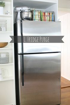 4 ways to purge and organize (and why have I never thought of putting my hardly used mixer on top of the fridge?!)