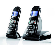 Cordless phone D27T 3/4 right HD (4275 x 3484) - duo black color