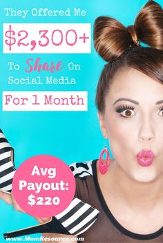 They say their average payout is $220. For me, I made $160 on my first paying campaign, but last month I was offered more than $2,300 for 5 campaigns! This network is not just for bloggers to make money blogging! If you share on social media, you can get paid to work at home! They pay to post on blogs as well as like Facebook Pages & YouTube Channels. Find out how to work from home or get paid to blog & make money at home!