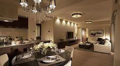 モデルルーム|サンアリーナ市谷仲之町【公式サイト】 Home Design Floor Plans, Interior And Exterior, Interior Design, Grey Flooring, Interior Photography, Tv Cabinets, Modern Luxury, Bathroom Interior, Living Room Designs