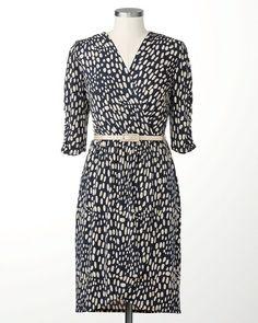 Dappled faux wrap dress | Coldwater Creek
