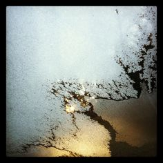 Frost on the windshield || Rockville, MD // Photographed by Alexandra E Haniford