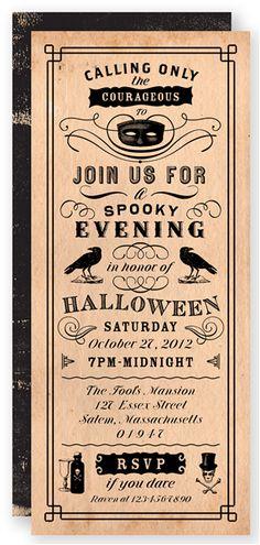 Vintage Masquerade - Halloween Card