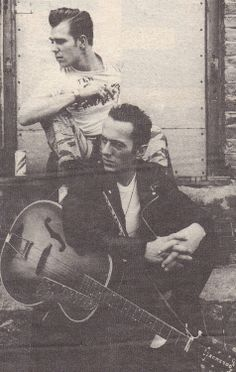 Paul Simonon & St. Joe Strummer of The Clash.