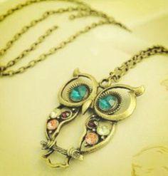 Owl necklace by @bryanhoward #shopsqsp