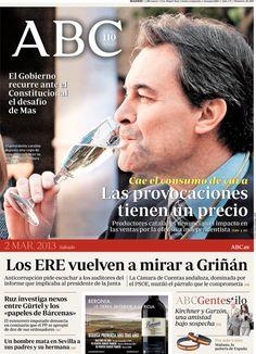 Los Titulares y Portadas de Noticias Destacadas Españolas del 2 de Marzo de 2013 del Diario ABC ¿Que le parecio esta Portada de este Diario Español?