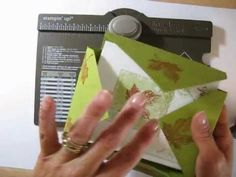 ▶ card box with Envelope Punch Board frenchiestamps.com - YouTube