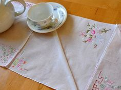 How To Make A Hankie Table Runner for your next party