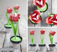 DIY Decorative Paper Tulips....Spring flowers are doable. But fake flowers are always an option