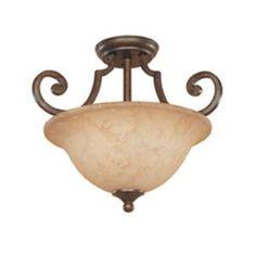 Cordelia Lighting Vienna 2 Light Semi Flush Mount Forged Sienna Ceiling HC0386 At