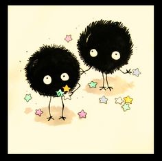 Fan Art of Soot Sprites for fans of Hayao Miyazaki 8631723 Hayao Miyazaki, Studio Ghibli Art, Studio Ghibli Movies, Chibi, Otaku, Manga, Girls Anime, Another Anime, My Neighbor Totoro