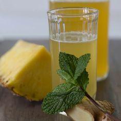 Shrub Drink, Drinking Vinegar, Pineapple Mint, Summer Cocktails, Fresh Ginger, Refreshing Drinks, Party Drinks, Summer Garden, Perfect Party