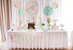 Bohemian Printable Party | by Paper & Cake for Operation Shower | feathers, dream catchers, arrows, tribal, boho, baby shower, bridal shower, birthday, dessert table, sweets station