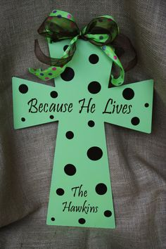 Metal Cross Decoration by ForeverBFs on Etsy, $35.00
