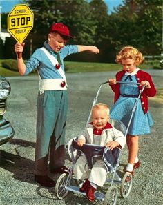 Crossing Guard Baby Carriage
