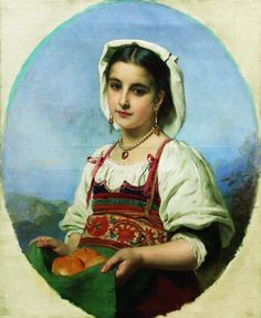 Young Italian with Sour Oranges, 1870, Konstantin Makovsky