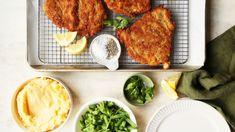 Schnitzel Recipe - Food.com Pork Recipes, Chicken Recipes, Meal Recipes, Pork Meals, Sausage Recipes, Kitchen Recipes, Cooking Recipes, Moroccan Vegetables, Schnitzel Recipes