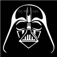 Darth Vader Face Stencil Vector Star Wars