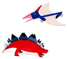 These kits are for sale, but it would not take much to make a template and make the pterodactyl that can fly like a paper airplane! How much fun would that be?