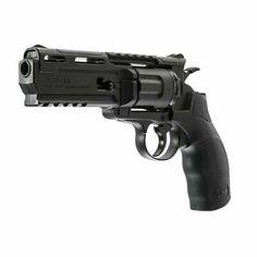Umarex Brodax Air Pistol, Black Shoots 375 feet per second BB pistol Polymer frame Realistic revolver action Integrated hex key in grip Ninja Weapons, Sci Fi Weapons, Concept Weapons, Weapons Guns, Guns And Ammo, Airsoft Revolver, Airsoft Guns, Hunting Rifles, Cool Guns