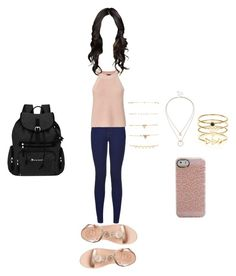 """Clothes of course monday 16/05"" by stilys on Polyvore featuring moda, New Look, Exclusive for Intermix, Jack Rogers, Forever 21, Sole Society, Accessorize e Sherpani"