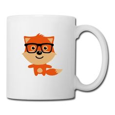 Cute & Funny Hipster Baby fox with nerd glasses Mug #cloth #cute #kids# #funny #hipster #nerd #geek #awesome #gift #shop Thanks.